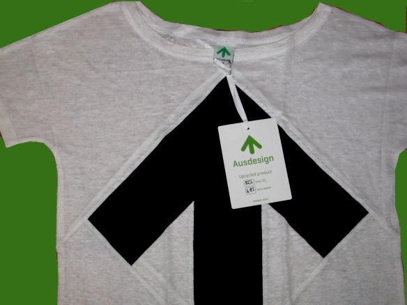 Up-Shirt by Ausdesign Copyright pink & green