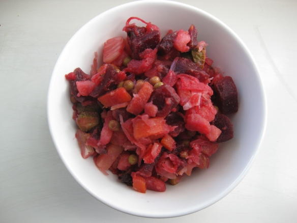 Pinker Vinegret-Salat