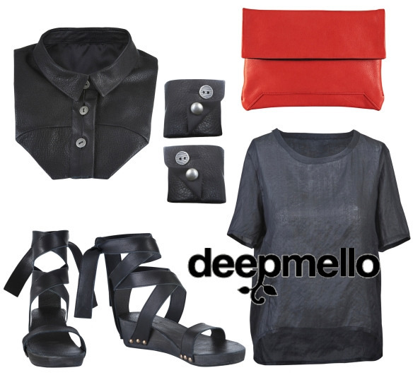 Clothes by deepmello, collage by pink & green